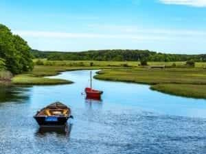 Herring River at Harwich MA Cape Cod